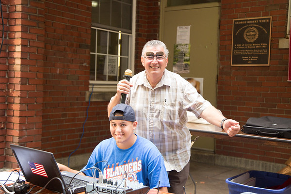 The rockin' Sal Bartolo and assistant!