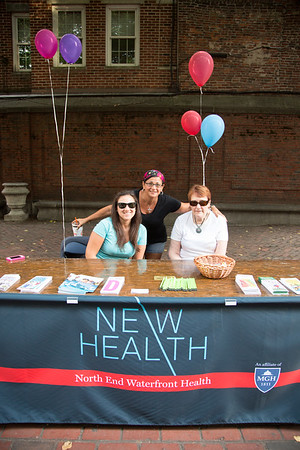 North End Waterfront Health hosted a table with information