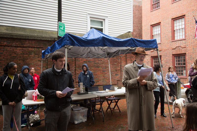 From the left, Rev. Matt Krugar and Rev. Steve Ayers of Old North Church.