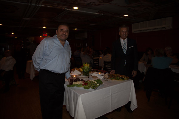 Taste of the North End co-chairs, Donato Frattaroli of Lucia Ristorante and Jim Luisi, CEO of North End Waterfront Health