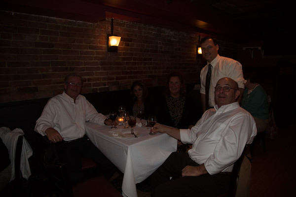 Pictured: Tom Russo (Russo Imports), Rosa Moccia, Jean Sweeney, Giovanni Ciccono and Chuck Mclane (Sysco)