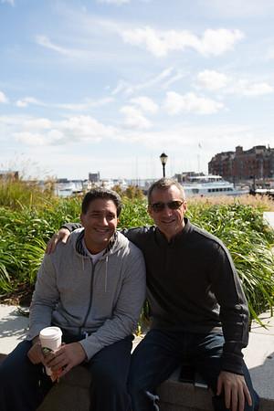 Robert Dello Russo and Stephen Passacanttilli at Christopher Columbus Park - October 2012