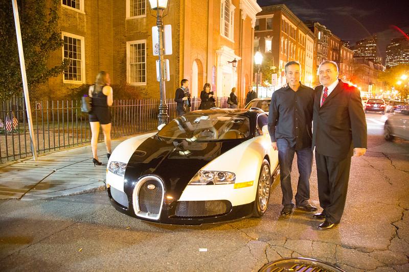 Posing with Bugatti