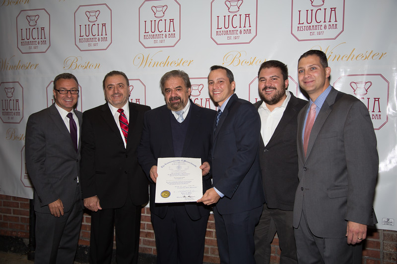 A State commendation comes from Rep. Aaron Michlewitz and Sen. Pettruccelli to the Frattarolio Family with Councilor Sal LaMattina. From the Frattarolio family, Donato, Fillipo and Philip.