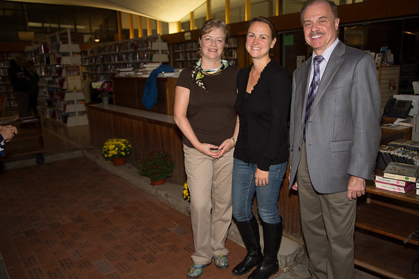 From the left, Paula Luccio, Donna Wells and James Salini, all from the Friends of the North End Library