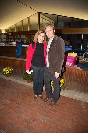 Library supporters, Suzanne Ianella and Andre Sadowski at the dedication.