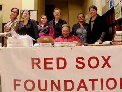 Nazzaro Bake Sale Fundraiser  From left to right, Roseann Romano, Laurie D'Elia, Jordyn Amoroso, Josephine Lepore, Ralph Indrisano, Flora Matarazzo and team leader Maria Shea (Photo by Carl Ameno)