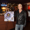 """North End Artist, Giovanni DeCunto, with his donated painting """"Violetta"""""""