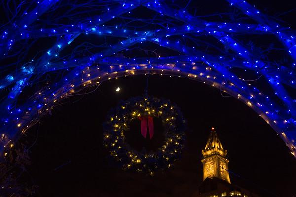 2012-11   Trellis Lighting at Christopher Columbus Park