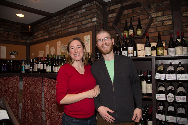 The Wine Bottega's Kerri and Ryan on Hanover Street