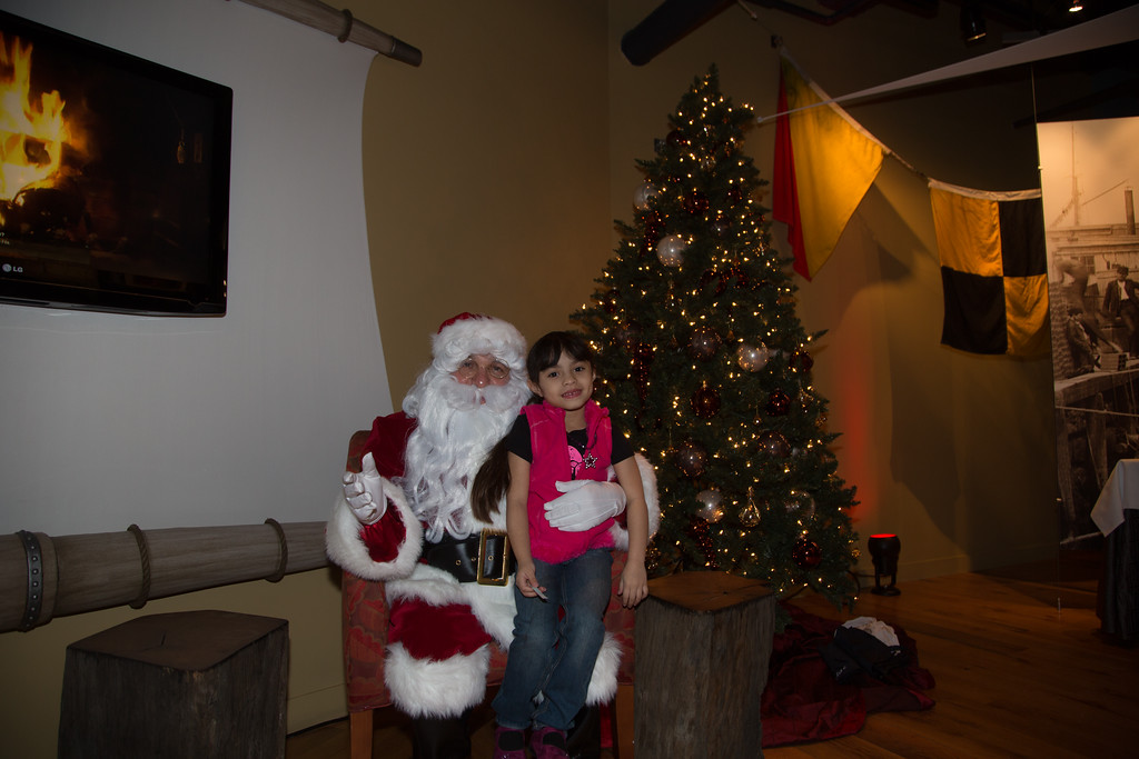Zaira with Santa at Fairmont Battery Wharf