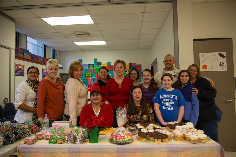 Volunteers at the Christmas Bazaar to benefit the Cystic Fibrosis Foundation