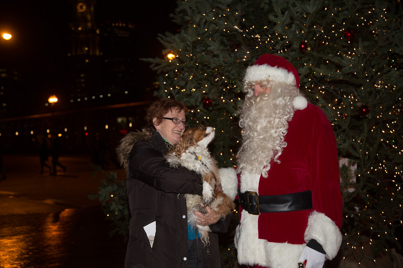 Santa loves dogs too!