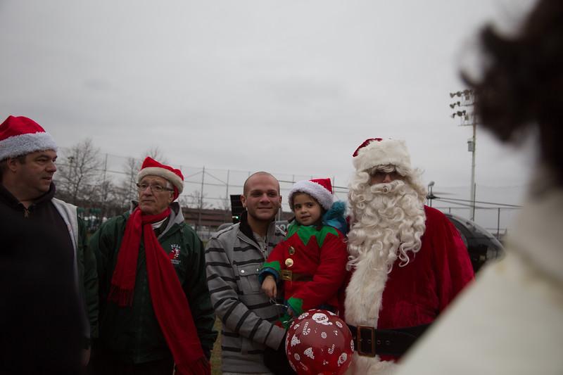 Nick, Elena and Santa