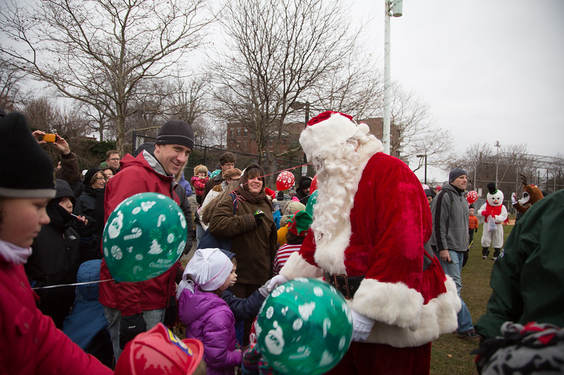 Santa and his fans.