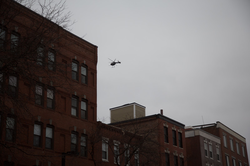 Santa Flying over the North End