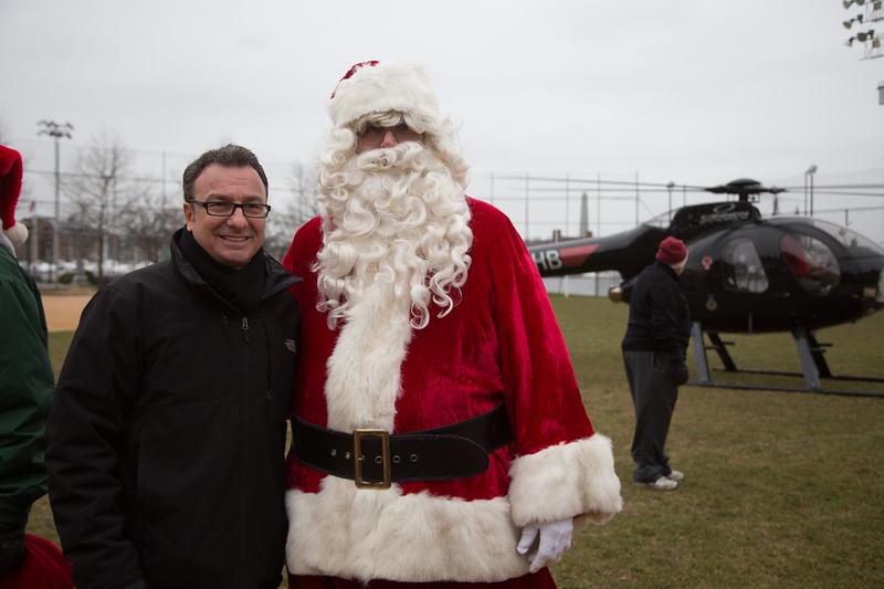 City Councilor Sal LaMattina with Santa