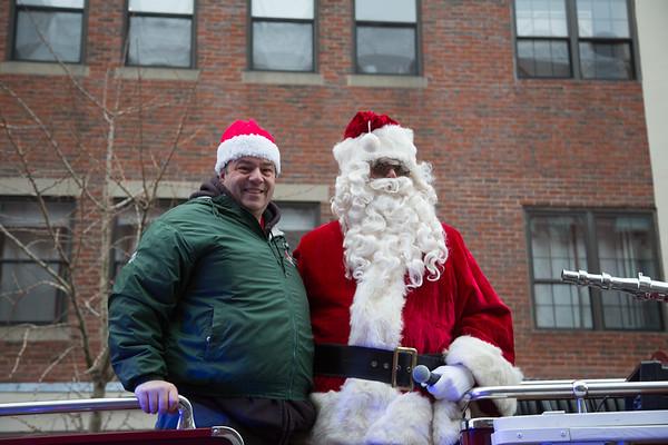 John Romano and Santa