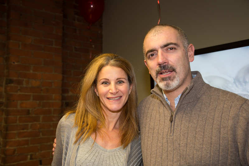 Jodi Piazza and Jorge Mendoza at the Toys for Tots event