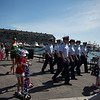 I bet this is the first time the US Coast Guard has marched with decorated scooters!