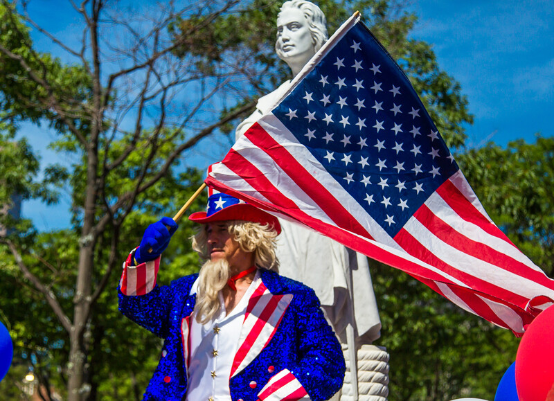 Uncle Sam and Christopher Columbus - Boston