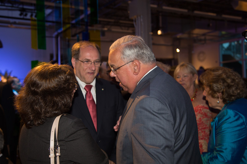 Mayor Thomas Menino catches up with U.S. Rep. Mike Capuano and Friends