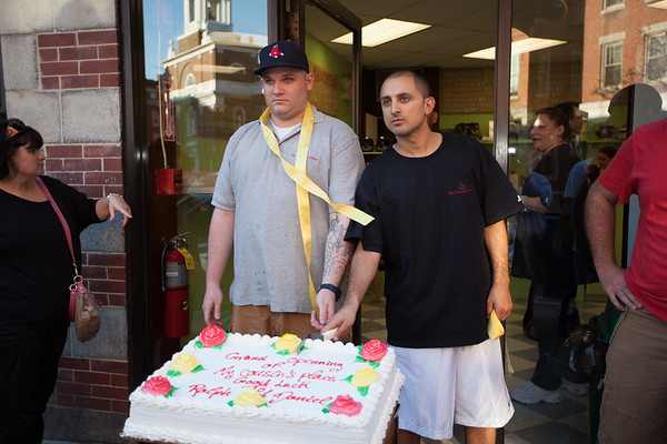 Ralph & Daniel Cut the Cake at My Cousins Place - Grand Opening - March 2012