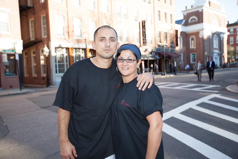 Daniel D'Elia and Laurie D'Elia on Hanover St.