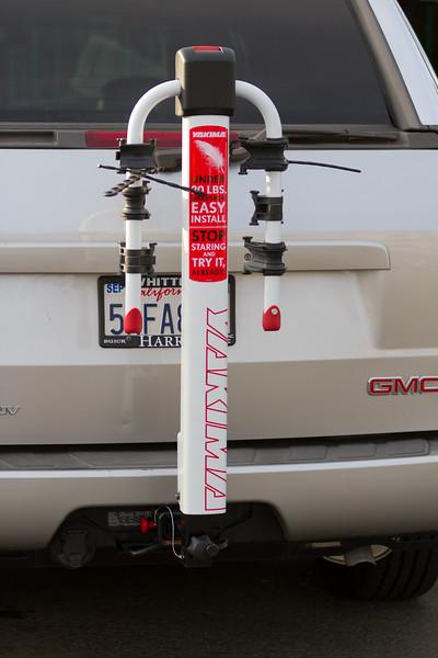 Never seen a white Yakima bike rack.