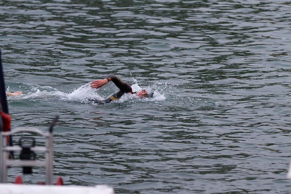 Many people were wearing Tyr's $1200 MSRP Freak of Nature wetsuit. We saw one later on sale for $960.