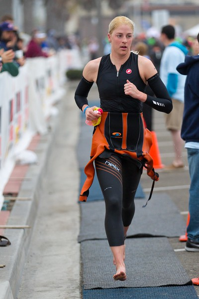 One of the first pro women out of the water