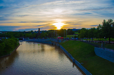 Sunset over the Haxall Canal at Dominion Riverrock