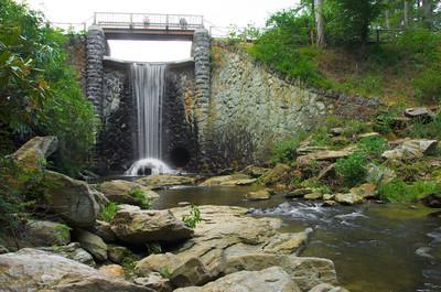 Bass Pond Waterfall at Biltmore Estate