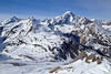 Skiing in La Thuile during the Moriond conference - view of the Mont Blanc