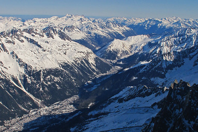 View from the Aiguille du Midi