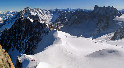 Start of the Valle Blanche