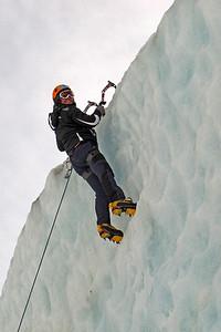 Ice climbing at the Mer de Glace