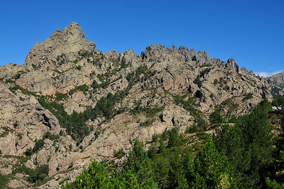 Approaching the climbing area Bavella