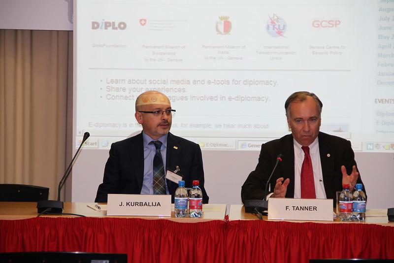 Dr Jovan Kurbalija, Mr Fred Tanner