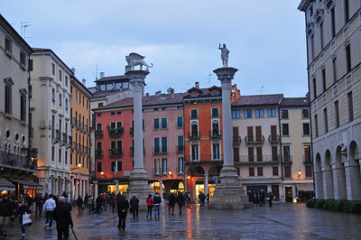 Vicenza in the rain