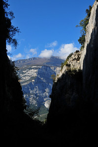 Via Ferrata near Arco - at least in this gorge we are somewhat protected from the rain...