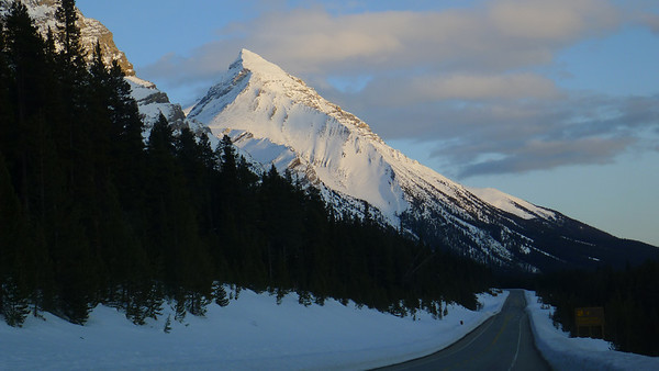 On the way to Crowfoot glacier