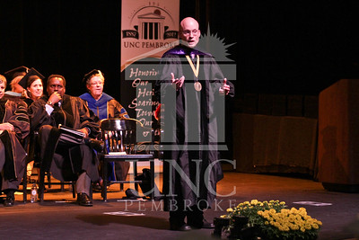 Keynote speaker Dr. Joseph Lakatos  speaks at the UNCP spring Graduate commencement on Friday, May 4th, 2012..  spring_grad_0284.jpg