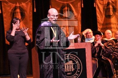 Keynote speaker Dr. Joseph Lakatos  speaks at the UNCP spring Graduate commencement on Friday, May 4th, 2012..  spring_grad_0296.jpg