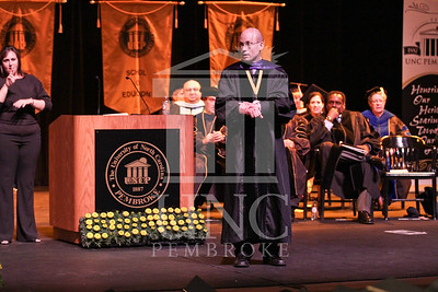 Keynote speaker Dr. Joseph Lakatos  speaks at the UNCP spring Graduate commencement on Friday, May 4th, 2012..  spring_grad_0289.jpg