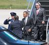 00aFavorite 20120424 President Barack Obama, RDU Airport, enroute to UNC-Chapel Hill talk (8077, 1149a) (c2012 Dilip Barman)