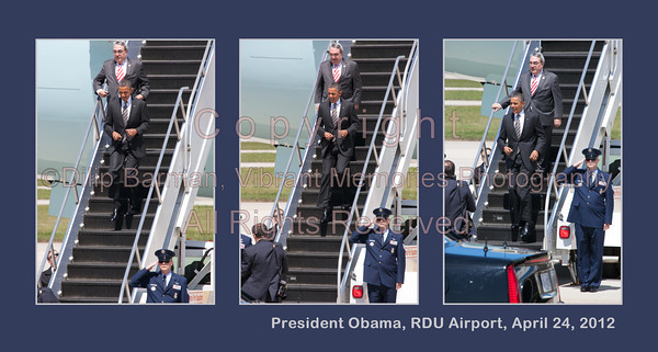 00aFavorite 20120424 President Barack Obama, RDU Airport, enroute to UNC-Chapel Hill talk (8072, 1149a) (c2012 Dilip Barman) - [3-up]