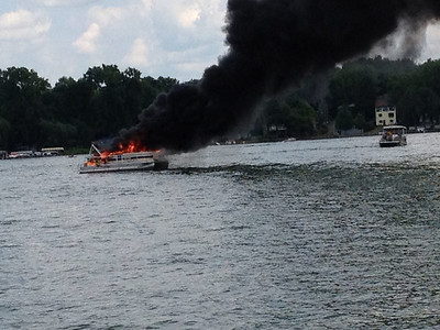 20120708- Conesus Lake Boat Fire