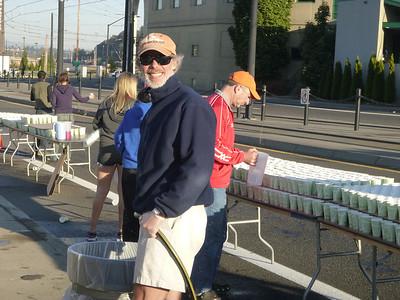 20121007 - Portland Marathon Aid Station