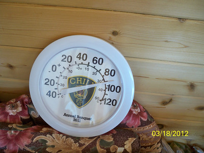 This is only March. Temp. in our sun room.